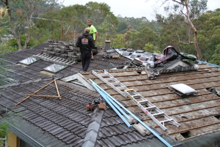 Re-Roof (Before) Frenchs Forest Nov 2012